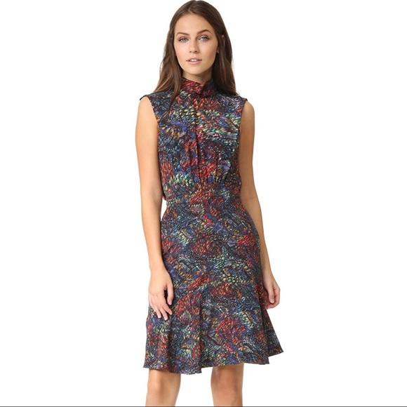16a99d183aba9 SALONI Dresses | Nwt Fleur Silk Dress In Rainbow Seagrass 4 | Poshmark